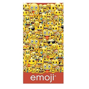 Artesanía Cerdá-2200002249 Toalla Playa algodón, diseño Emoji ...