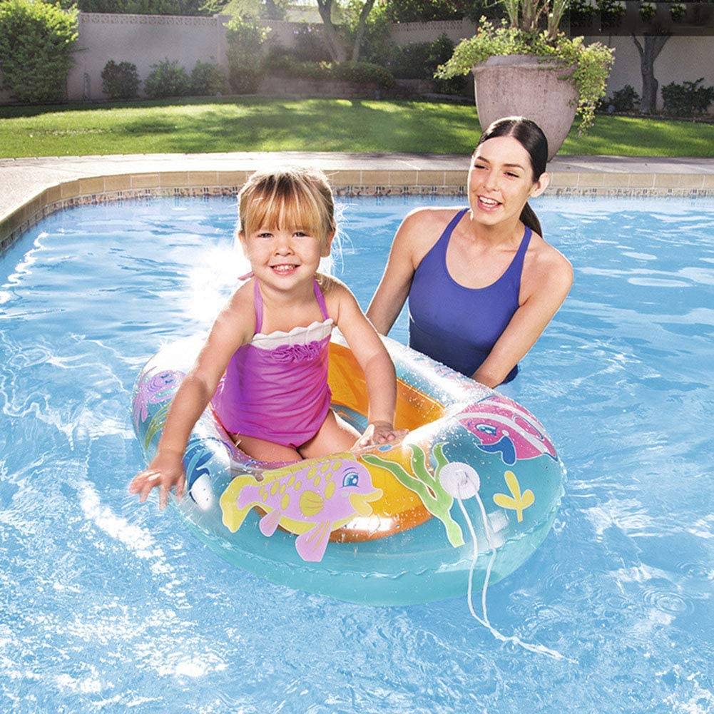 Inflable Niño los niños Natación Asiento, Float Boat Anillo Raft Silla Piscina Juguete: Amazon.es: Deportes y aire libre