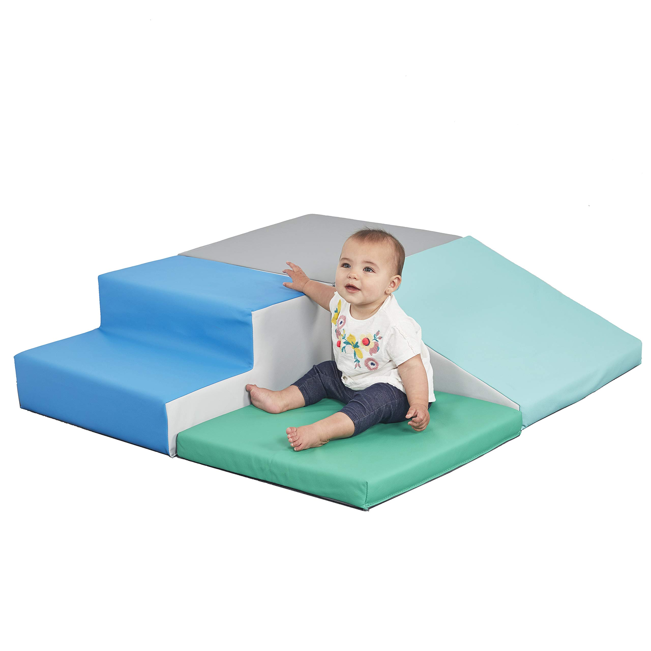 ECR4Kids SoftZone Little Me Foam Corner Climber - Indoor Active Play Structure for Toddlers and Kids - Soft Foam Play Set, Contemporary by ECR4Kids (Image #1)