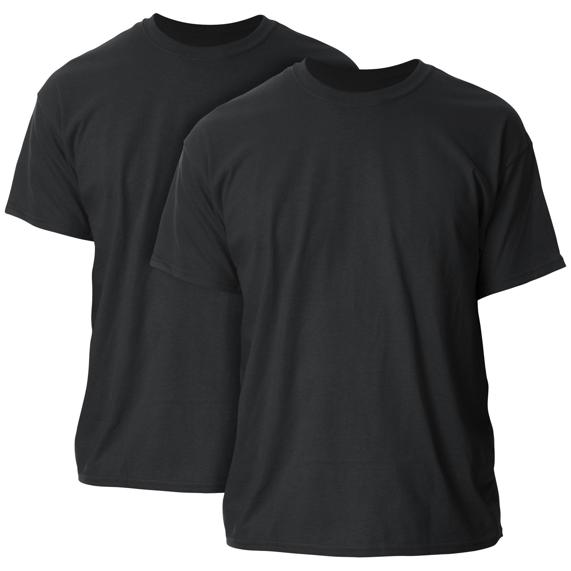 Gildan Men's Ultra Cotton Adult T-Shirt, 2-Pack, Black, 5X-Large