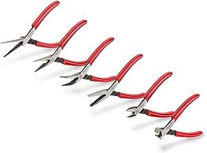 TEKTON Mini Pliers Set, 6-Piece (Needle Nose, Long Nose, Flat Nose, Cutting) | PMN99906
