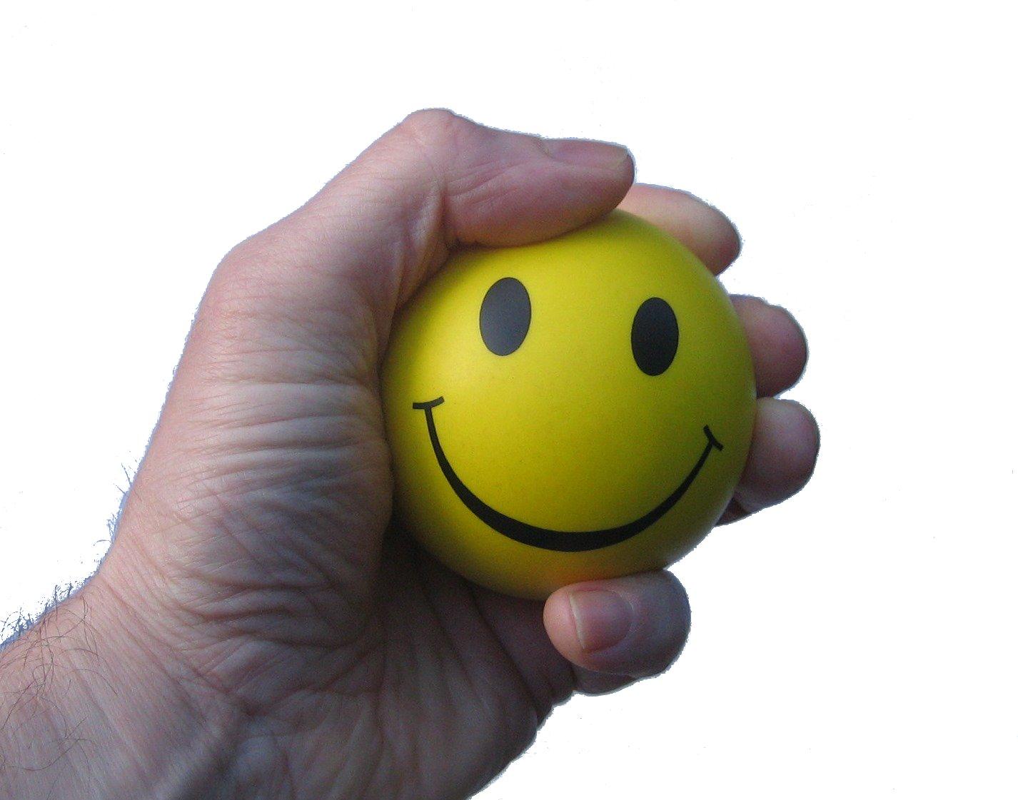 Favori Balle Anti Stress - 3 x balle de stress en juane - parfaite pour  QM06