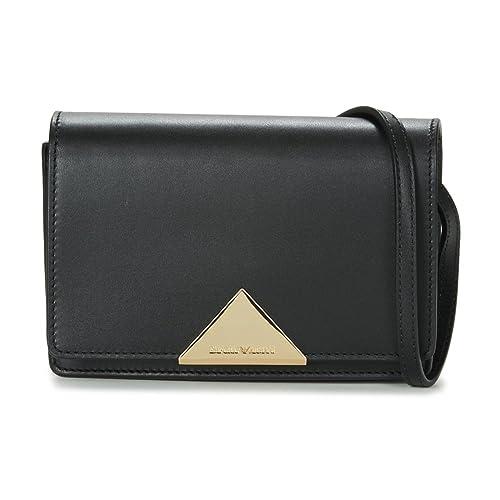 5e9a32707191 Emporio Armani Women s Smooth Leather Cross Body Black One Size ...