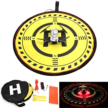 Drone Landing Pads Helistar Fast-Fold LED Light Landing Pad Launch Pad  Night Flight Parking Apron for DJI Mavic 2 Zoom/DJI Mavic 2 Pro/DJI Mavic