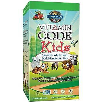 Garden of Life - Niños código alimentos vitamina multivitamínico Cherry Berry - 60Tabletas masticables: Amazon.es: Salud y cuidado personal