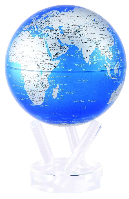 光で回る地球儀 ムーバグローブ MOVA Globe 6インチ 惑星衛星シリーズ【並行輸入品】 (コバルトブルー&シルバー)  コバルトブルー&シルバー B00FQHLGIC