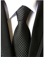 Solid black inch men 39 s necktie at amazon men s for Van heusen pilot shirts slim fit