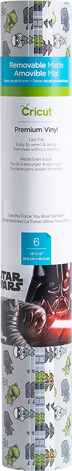 Cricut Use The Force You Must, Sampler Vinyl, Premium Removable