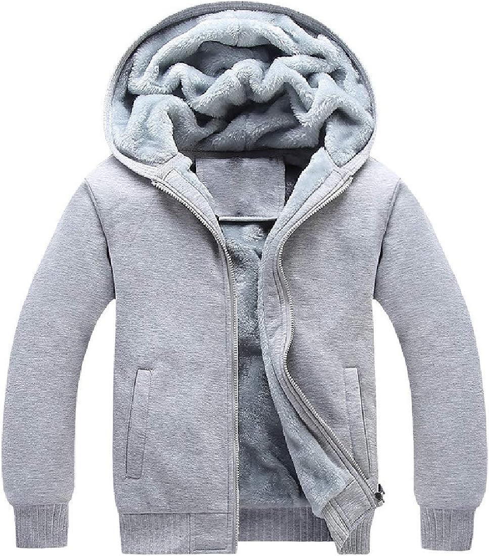 YY-qianqian Mens Winter Fashion Thicken Fleece Sherpa Lined Zipper Hoodie Sweatshirt Jacket