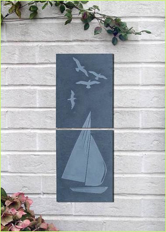 Greenkey Large Butterfly Slate Wall Art