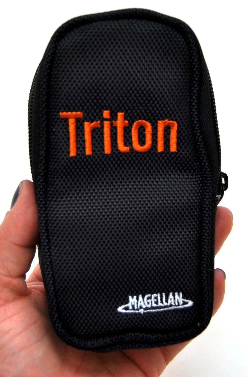 Genuine Magellan Triton 1500 2000 GPS Travel Zipper Canvas Carry Case BLACK