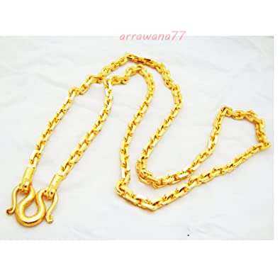 Mens Classic Chain 22k 23k 24k Thai Baht Gold GP Necklace 28 Inch 7