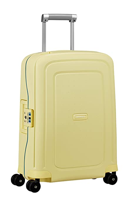 Samsonite SCure - Spinner Equipaje de Mano 55 Centimeters 34 Amarillo (Pastel Yellow Stripes)