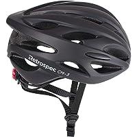 Retrospec by Westridge 3079 CM-3 Road Bike Helmet with LED Light Adjustable Dial, 24 vents
