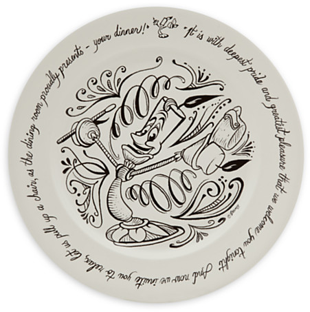 Lumiere Be Our Guest Dinner Plate | Disney Store