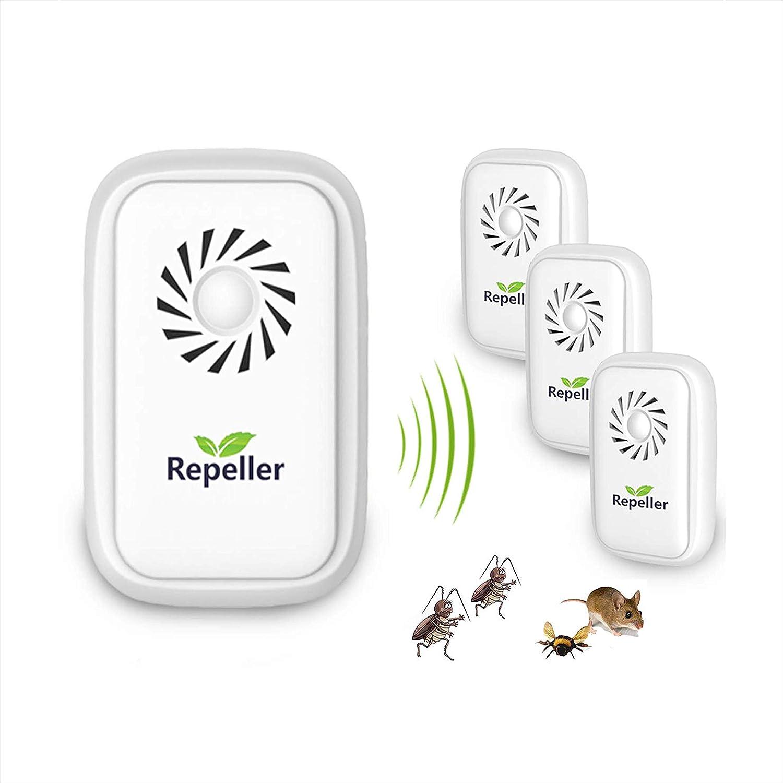 /Électronique Anti Rats Souris Moustiques Coquerelle Fourmis Araign/ées Mini R/épulsif /à Ultrasons R/épulsif Ultrason Anti-Rongeurs Insectes Hospaop Ultrason pour Anti Moustiques- 4 Paquets