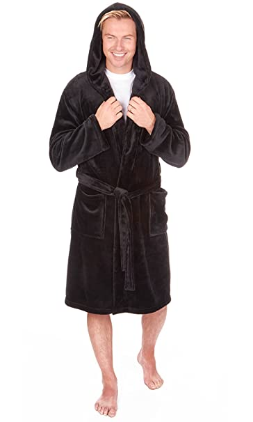 special for shoe choose official real quality Mens Supersoft Housecoat Fleece Bath Robe Dressing Gown Gents Warm Winter  Style