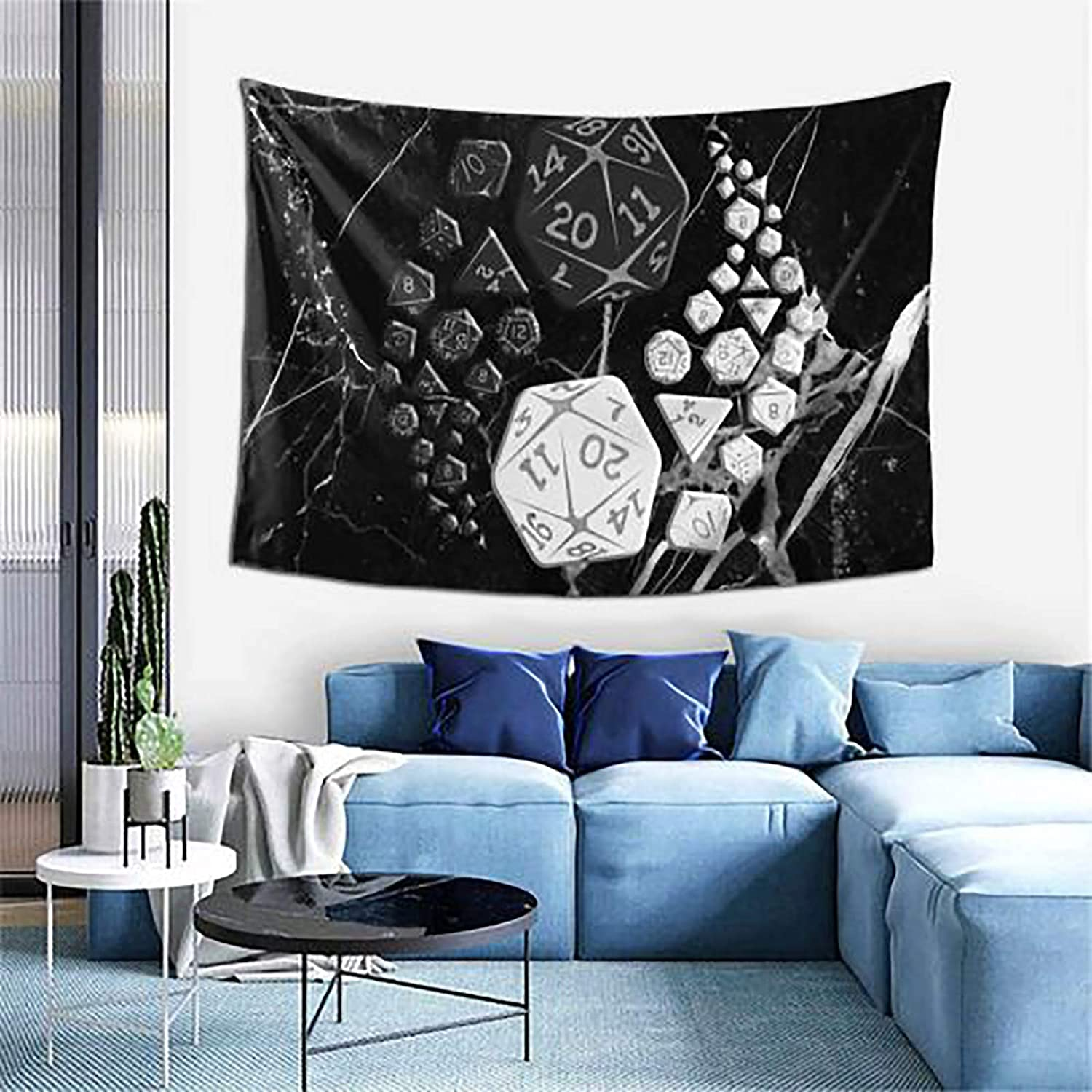 DungeonsDragonsYinYang Tapestry Wall Decor Soft Colorful Polyester Tapestries Decoration For Room 60X40 Inch
