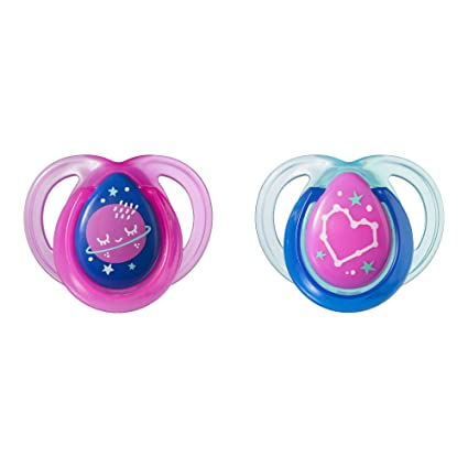 2 Count Colors will vary 0-2 Months Tommee Tippee Newborn Pacifier