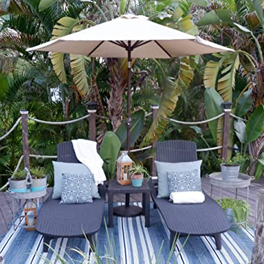 Abba Patio Outdoor Patio Umbrella Market Table Umbrella with Push Button Tilt and Crank, 9-Feet, Cream