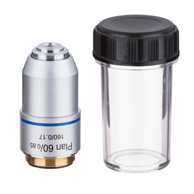 AmScope PA60X 60X Plan Achromatic Microscope Objective Lens