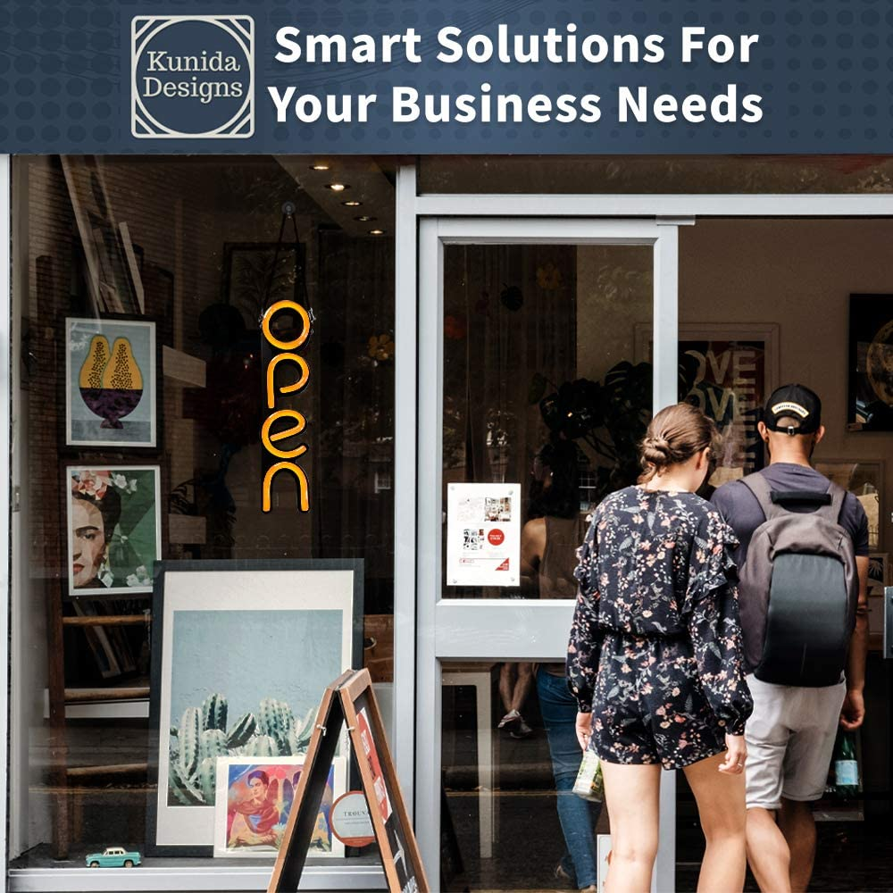 Lightweight /& Energy Efficient for Restaurants Offices Retail Shops Window Storefronts Blue LED Neon Open Sign Light for Business with ON /& Off Switch