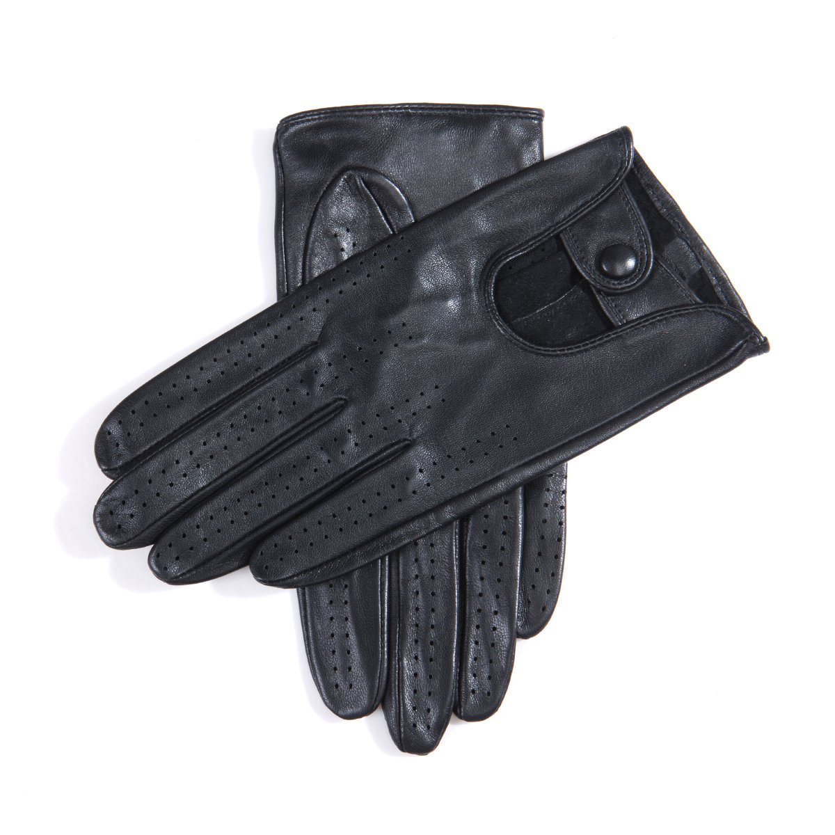 MATSU Classic Women Driving Touchscreen Lambskin Leather Gloves Available for Rivets DIY #9237 (XL, Black) by Matsu Gloves (Image #2)