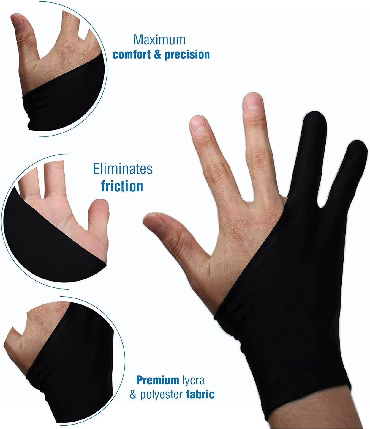 Finger Anti Fouling Gloves Drawing Writing Painting Digital Tablet Unisex Gloves