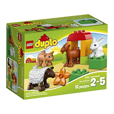 LEGO DUPLO Ville Farm Animals Building Set 10522: Toys & Games
