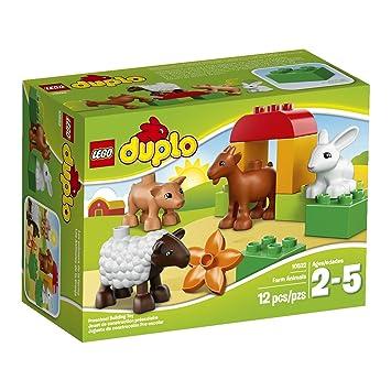 LEGO DUPLO Los Animales de la Granja - juegos de construcción, 2 año(s), 12 pieza(s), Niño/niña, 5 año(s), DUPLO: Amazon.es: Juguetes y juegos