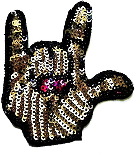 Rock n roll Iron //Sew On Embroidered Patch Badge Rock and roll Embroidery Motif