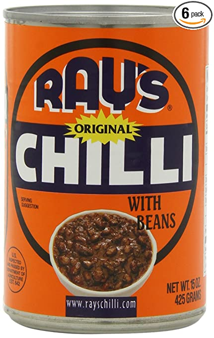 b8fe64abc Amazon.com : Ray's Chilli Original Chilli with Beans, 15-Ounce (Pack of 6)  : Chili Soups : Grocery & Gourmet Food