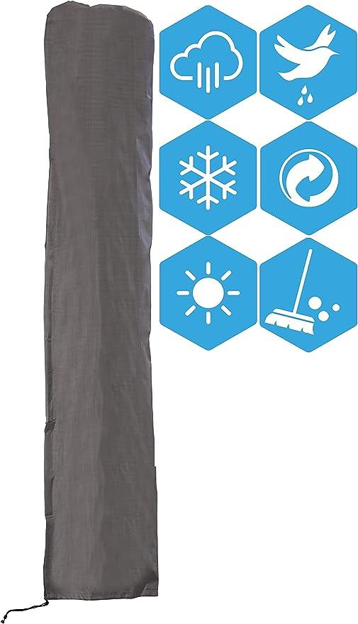 ATLANTIS Outdoor Cubierta Funda Protectora para Parasol Excéntrico | Gris | TÜV Rheinland Certificada | Fundas para Muebles | Impermeable | Resistente Agua | Protección: Amazon.es: Jardín
