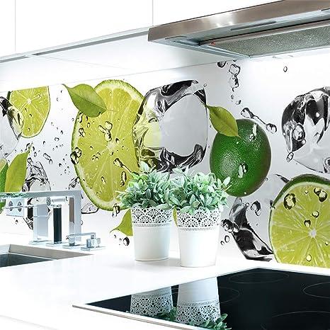 Küchenrückwand Limetten Eiswasser Premium Hart Pvc 0 4 Mm Selbstklebend 60x51cm Küche Haushalt