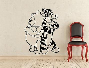 Winnie L\'ourson Tigrou Vinyle Stickers Muraux Bébé décoration de la ...