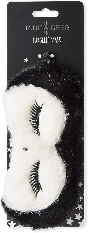 en avion ou /à la maison Dr/ôle masque pour dormir en eco fourrure ou paillettes Parfaite pour endormir vite en voyage Tri-Coastal Design black