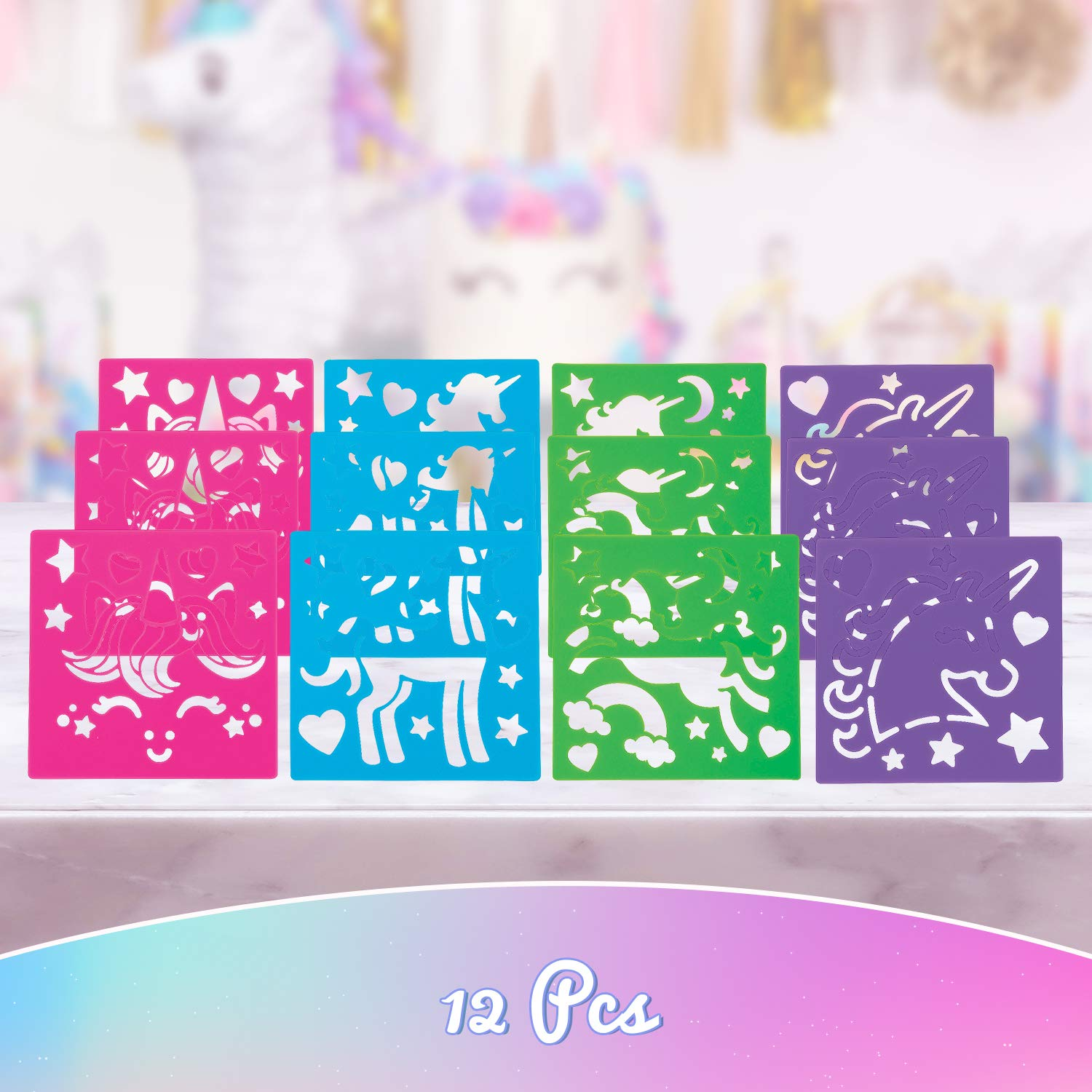 Birthday Favors Gift Fun Express Unicorn Stencils Giveaway Prizes School Supply Great for Unicorn Themed Celebration