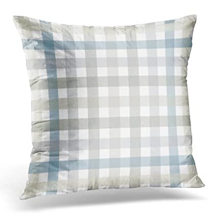 amazon com golee throw pillow cover gray tablecloth grey and blue