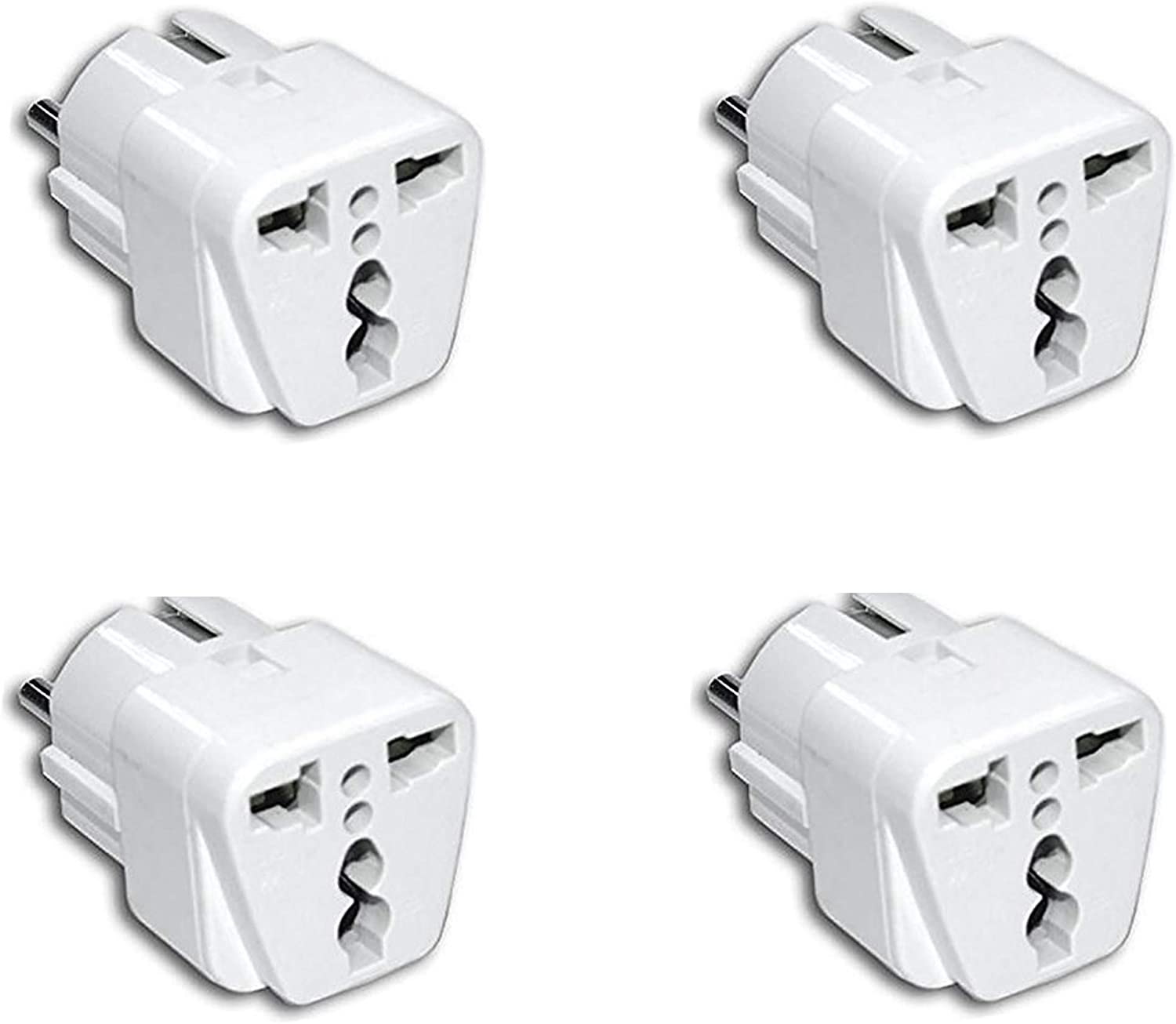 4 Unidades Adaptador Enchufe Chino o Americano a Salida Enchufe Europeo: Amazon.es: Electrónica