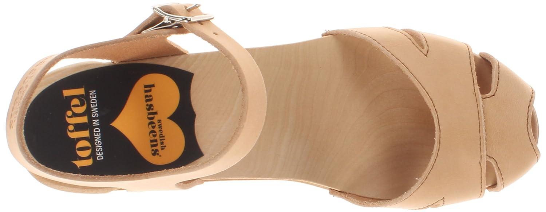 swedish hasbeens Women's Suzanne Platform Sandal B00FPW3K3M 9 B(M) US|Nature