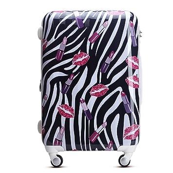 WAOWAO multicolor hardside luggage