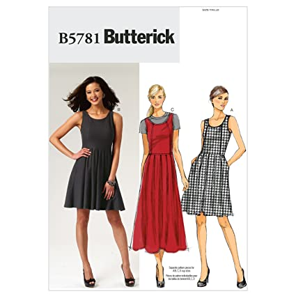 35ca519a054d Image Unavailable. Image not available for. Color: Butterick Patterns  B5781E50 Misses'/Misses' Petite Dress Sewing ...