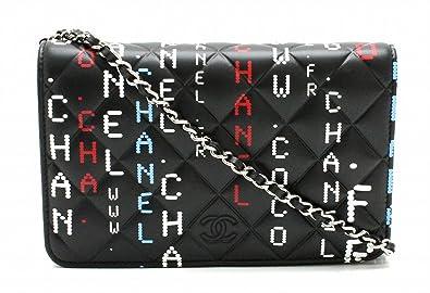 5113e4da4675 [シャネル] CHANEL マトラッセ チェーンウォレット 財布 コンピューター柄 サーキットボード ココマーク チェーンショルダー