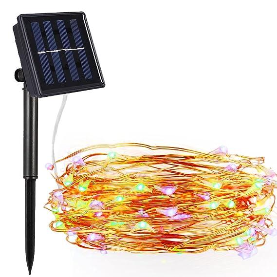 Bovon LED Lichterkette Solar, Solarlichterkette Außen 100er LED 33ft ...
