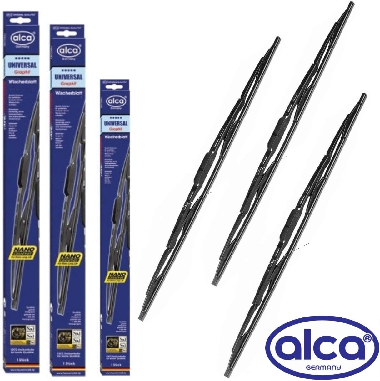 Replacement WIPER BLADES Ford Fiesta 2002 2003 2004 2005 2006 2007 2008 Full set