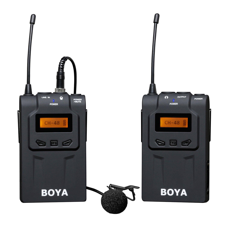 BOYA BY-WM6 UHF Kabellos Mikrofon DSLR Kamera FunkMikrofon Set Omni-directional Lavalier Mikrofon Wireless Mikrofon 48 Kanal für ENG, EFP, DV, DSLR Kameras Video Camcorder BY-WM6-G