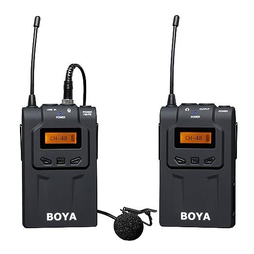 17 opinioni per BOYA BY-WM6 48-Channel UHF Microfono portatile senza fili Lavalier