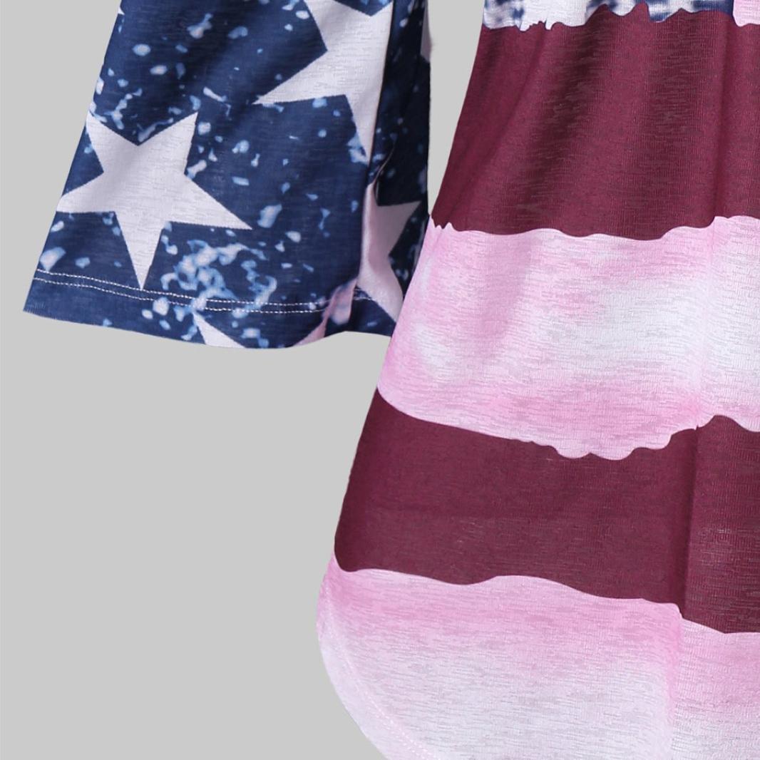 Amazon.com: inverlee mujeres Casual patriótico bandera ...