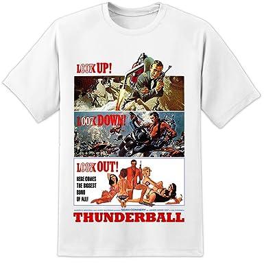 55e019e3d DPX-1 James Bond Thunderball Movie Poster T Shirt (S-3XL): Amazon.co.uk:  Clothing