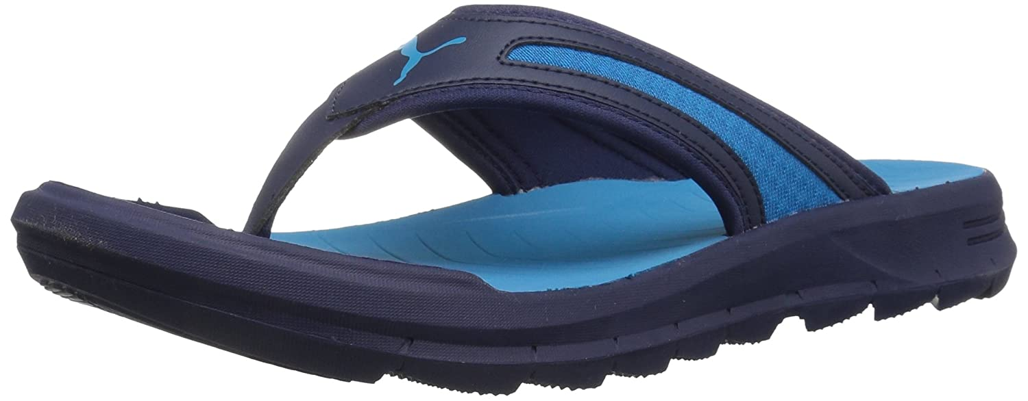 PUMA Men's Starcat Sfoam Athletic Sandal, Blue Danube/Peacoat, 12 M US